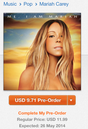 Pré venda de CD de Mariah Carey