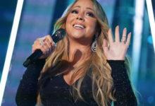 Mariah cantando na festa Chopard